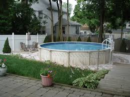 ... Great Image Of Backyard Landscaping Decoration Using Above Ground Deck  Pool Design And Ideas : Inspiring ...