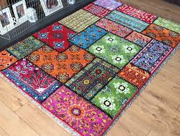 modern bright colourful vibrant patchwork aztec rug rugs large floor mats