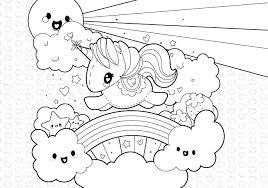 Printable Realistic Unicorn Coloring Pages Free Birthday Baby Cute
