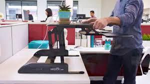 Standing Desk Extension Stand Up Desk Varidesk Pro Plus 36 Standing Desk Youtube