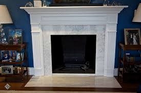 luxury gas electric fireplace with white concrete