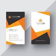 Interior Orange And White Orange And White Business Card Psd File