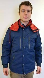 fila navy puffer jacket. image is loading new-mens-fila-vintage-3-in-1-mod- fila navy puffer jacket