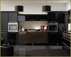 wonderful black gloss kitchen cabinet doors design ideas round black drum pendant lighting square leather ottoman