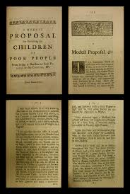 a modest proposal essay a modest proposal by jonathan swift ...