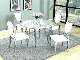 glass dining set 6 chairs glass dining table round kitchen sets set 6 chairs wood top