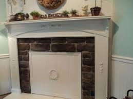 diy beadboard cover the fireplace for spring summer