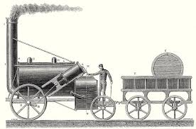 The Rocket Locomotive Of George And Robert Stephenson Drawing by English School