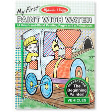Melissa Doug My First Paint With Water Coloring Book Vehicles 24