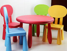 colorful kids table and chair set