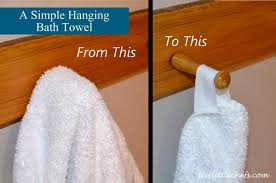 A Simple Hanging Bath Towel Five Little Chefs
