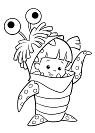 Small Picture Boo costume Monster Inc coloring pages for kids printable free