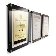 la36 2 wall mounting certificate frame