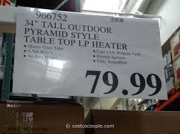 propane patio heater costco. Simple Heater Outdoor Heater Costco Patio Table Top Heaters Elegant Inch  Regarding On Propane Patio Heater Costco P