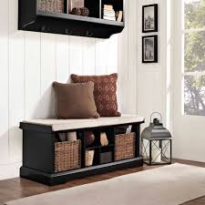 Storage Benches For Living Room Crosley Furniture Brennan Entryway Storage Bench Multiple Colors