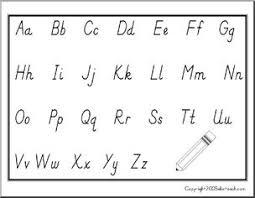 Handwriting Chart Manuscript Letters Alphabet Abcteach