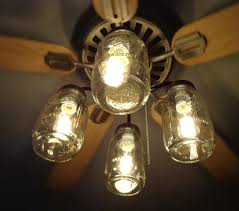 Sightly Mason Jar Ceiling Fan Light Kit New Quart Jars Mason Jar  Lightfixture Mason Jar Ceiling