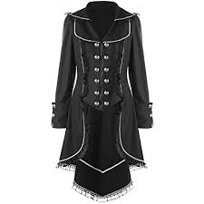 MRxcff Women <b>Double Breasted Lace Hem</b> Tail Coat Turn Down ...