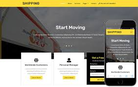 Bootstrap Website Shipping Transportation Category Bootstrap Responsive Web