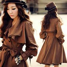 2018 trench coat elegant double ted lapel ruffled collar fitted flared trench coat from laichenghe 47 36 dhgate com