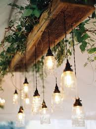 glam lighting. natural glam wedding in lavender and green lighting