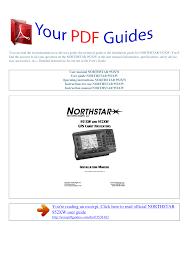 Operating Instructions Northstar 952xw Manualzz Com