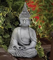 pearl hat thai stone buddha statue large garden ornament