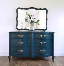 french country dresser. Dark Navy Blue French Provincial Dresser Makeover Refurbished With Ecofriendly DIY Clay Paint To Country