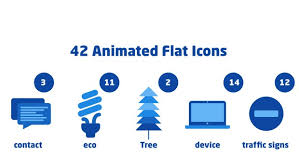 42 Animated Flat Icons Motion Graphics Templates