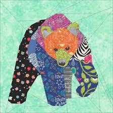 Big Bear- A 30 Inch Paper Pieced Quilting Pattern &  Adamdwight.com