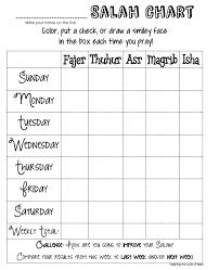Salah Chart Salah Chart Charts For Kids Chart Ramadan