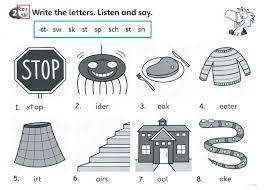 Beginning blends sk, sl, sm, sn, sp, st, tr, tw, scr, spl, spr and str. Y2 Superminds Sb87 Phonics St Sp Sw Sk Worksheet