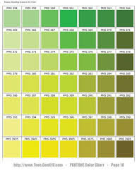 Pantone Green Color Chart Sage Green Color Chart Pantone Color Chart Pms Ink Color