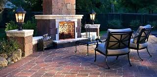 Patio Designs With Fireplace Backyard Stone Fire Pit Designs