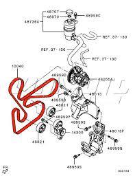 viamoto car parts mitsubishi lancer evo 10 cz4a parts evo 10 auxilliary belt route diagram here should help you fit it