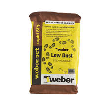 weber rapid set spf low dust floor and wall tile adhesive light grey c0001010