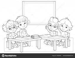 Kinderen In De Klas Hand In Hand Omhoog Stockvector