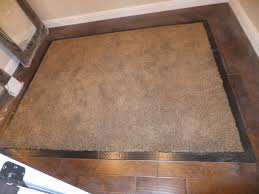 hardwood border and carpet inset for master bedroom closet