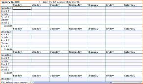Monthly Meal Planner Template Excel Meal Planner Template Excel
