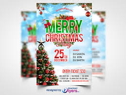 Christmas Party Flyer Free Psd Template Download Psd