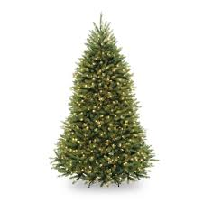 Pre-Lit Dunhill Fir Hinged Artificial Christmas Tree with