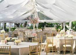 wedding tulle decorations for reception with crystal chandelier and square table also gold padded chairs plus white flower centerpieces