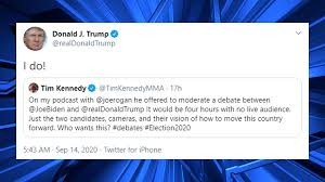 President Trump agrees to 4-hour debate with Biden hosted by Joe Rogan -