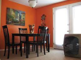 dining room beautiful dining room with orange wall ideas with luxury vintage chandeliers and small