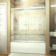 shower sliding door installation sliding tub shower