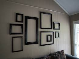 Color unifies an assortment of artfully arranged frames.