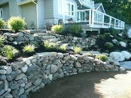 rock retaining wall natural rock dual tier retaining wall cost to repair rock retaining wall rock retaining wall
