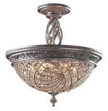 elk lighting 6233 6 crystal renaissance semi flush mount ceiling fixture diy beams vaulted decor best fans for bedrooms bedroom kitchen lights tray how to