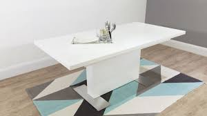 Small Picture Modern Rectangular White Gloss Extending Dining Table UK