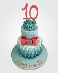 Cake Designs For 10th Birthday 10th Birthday Cake Cg1677